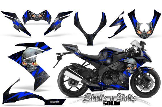 Kawasaki Ninja ZX10 Skulls n Bolts Solid Blue Black 570x376 - Kawasaki ZX10 Ninja 2008-2009 Graphics