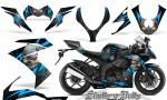 Kawasaki Ninja ZX10 Skulls n Bolts Solid BlueIce Black 150x90 - Kawasaki ZX10 Ninja 2008-2009 Graphics