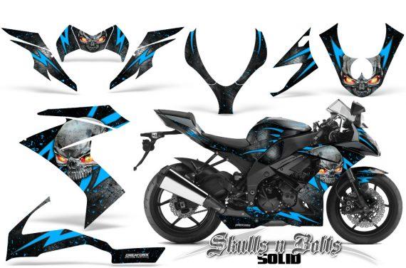 Kawasaki Ninja ZX10 Skulls n Bolts Solid BlueIce Black 570x376 - Kawasaki ZX10 Ninja 2008-2009 Graphics