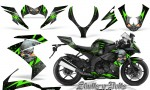Kawasaki Ninja ZX10 Skulls n Bolts Solid Green Black 150x90 - Kawasaki ZX10 Ninja 2008-2009 Graphics
