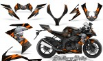 Kawasaki Ninja ZX10 Skulls n Bolts Solid Orange Black 150x90 - Kawasaki ZX10 Ninja 2008-2009 Graphics