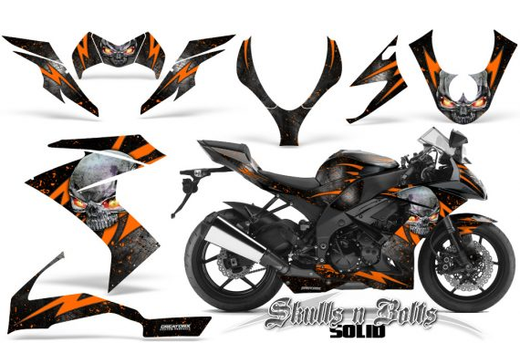 Kawasaki Ninja ZX10 Skulls n Bolts Solid Orange Black 570x376 - Kawasaki ZX10 Ninja 2008-2009 Graphics