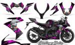 Kawasaki Ninja ZX10 Skulls n Bolts Solid Pink Black 150x90 - Kawasaki ZX10 Ninja 2008-2009 Graphics