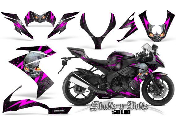 Kawasaki Ninja ZX10 Skulls n Bolts Solid Pink Black 570x376 - Kawasaki ZX10 Ninja 2008-2009 Graphics