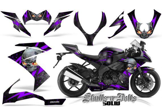 Kawasaki Ninja ZX10 Skulls n Bolts Solid Purple Black 570x376 - Kawasaki ZX10 Ninja 2008-2009 Graphics
