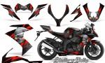 Kawasaki Ninja ZX10 Skulls n Bolts Solid Red Black 150x90 - Kawasaki ZX10 Ninja 2008-2009 Graphics