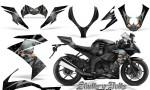 Kawasaki Ninja ZX10 Skulls n Bolts Solid Silver Black 150x90 - Kawasaki ZX10 Ninja 2008-2009 Graphics