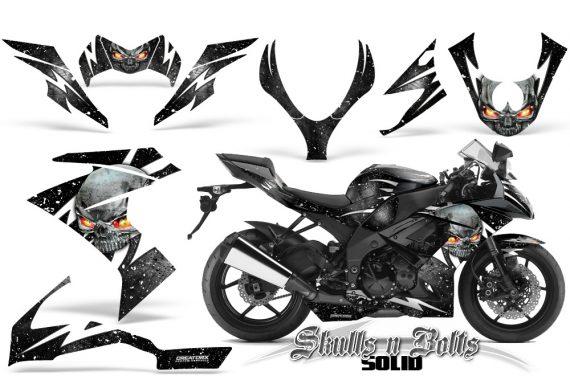 Kawasaki Ninja ZX10 Skulls n Bolts Solid White Black 570x376 - Kawasaki ZX10 Ninja 2008-2009 Graphics