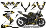 Kawasaki Ninja ZX10 Skulls n Bolts Solid Yellow Black 150x90 - Kawasaki ZX10 Ninja 2008-2009 Graphics