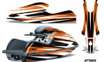 Kawasaki SX R800 Graphic Kit Attack Orange 150x90 - Kawasaki 800 SX-R Jet Ski 2003-2012 Graphics