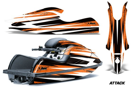 Kawasaki SX R800 Graphic Kit Attack Orange 570x376 - Kawasaki 800 SX-R Jet Ski 2003-2012 Graphics