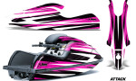 Kawasaki SX R800 Graphic Kit Attack Pink 150x90 - Kawasaki 800 SX-R Jet Ski 2003-2012 Graphics