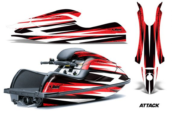 Kawasaki SX R800 Graphic Kit Attack Red 570x376 - Kawasaki 800 SX-R Jet Ski 2003-2012 Graphics
