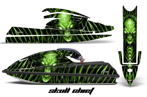 Kawasaki SX750 92 98 CreatorX Graphics Kit Skull Chief Green 570x376 - Kawasaki 750 SX SXR Jet Ski 1992-1998 Graphics