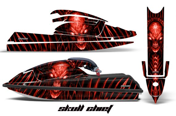 Kawasaki SX750 92 98 CreatorX Graphics Kit Skull Chief Red 570x376 - Kawasaki 750 SX SXR Jet Ski 1992-1998 Graphics