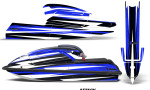 Kawasaki SX750 92 98 Graphics Kit Attack Blue 150x90 - Kawasaki 750 SX SXR Jet Ski 1992-1998 Graphics