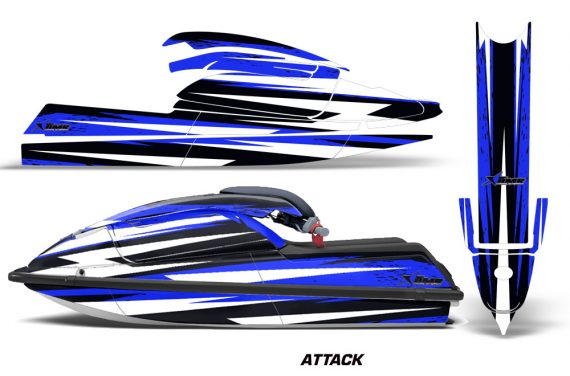 Kawasaki SX750 92 98 Graphics Kit Attack Blue 570x376 - Kawasaki 750 SX SXR Jet Ski 1992-1998 Graphics