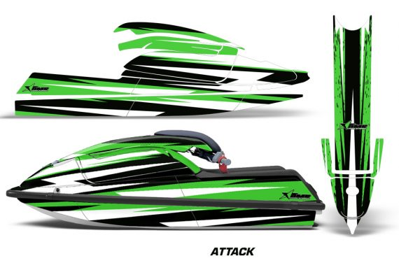 Kawasaki SX750 92 98 Graphics Kit Attack Green 570x376 - Kawasaki 750 SX SXR Jet Ski 1992-1998 Graphics