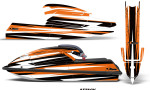 Kawasaki SX750 92 98 Graphics Kit Attack Orange 150x90 - Kawasaki 750 SX SXR Jet Ski 1992-1998 Graphics