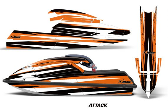 Kawasaki SX750 92 98 Graphics Kit Attack Orange 570x376 - Kawasaki 750 SX SXR Jet Ski 1992-1998 Graphics