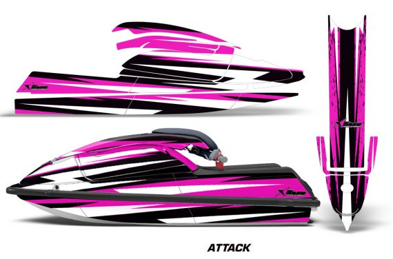 Kawasaki SX750 92 98 Graphics Kit Attack Pink 570x376 - Kawasaki 750 SX SXR Jet Ski 1992-1998 Graphics