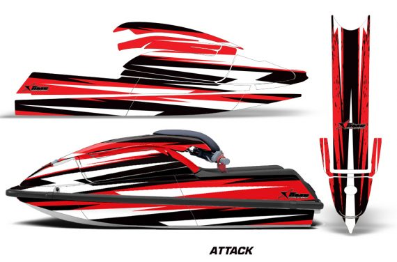 Kawasaki SX750 92 98 Graphics Kit Attack Red 570x376 - Kawasaki 750 SX SXR Jet Ski 1992-1998 Graphics