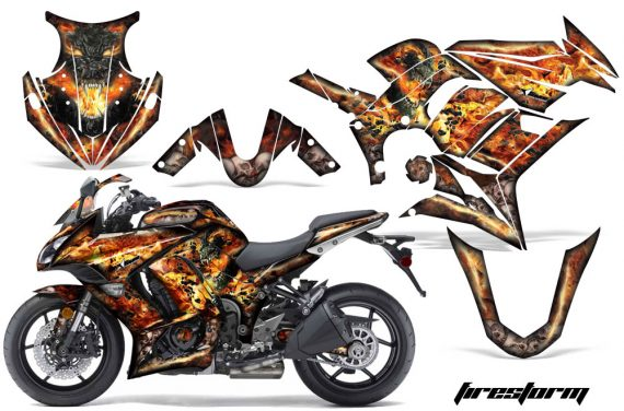 Kawasaki ZX 1000 10 13 AMR Graphics Kit Wrap Firestorm K 570x376 - Kawasaki ZX1000 Ninja 2010-2013 Graphics