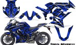 Kawasaki ZX 1000 10 13 CreatorX Graphics Kit Tribal Madness Blue 150x90 - Kawasaki ZX1000 Ninja 2010-2013 Graphics
