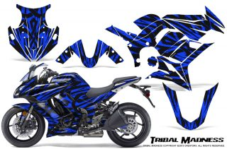 Kawasaki ZX 1000 10 13 CreatorX Graphics Kit Tribal Madness Blue 320x211 - Kawasaki ZX1000 Ninja 2010-2013 Graphics