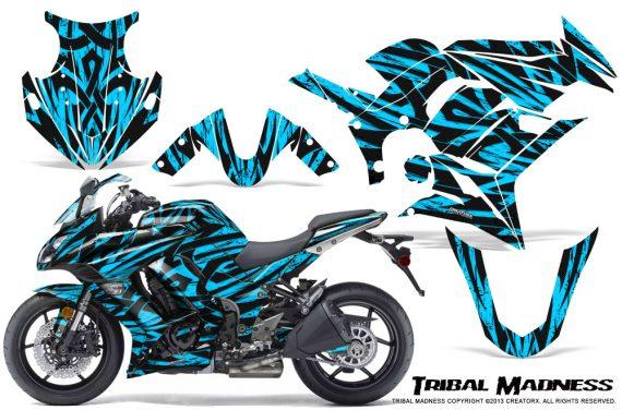 Kawasaki ZX 1000 10 13 CreatorX Graphics Kit Tribal Madness BlueIce 570x376 - Kawasaki ZX1000 Ninja 2010-2013 Graphics