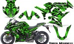 Kawasaki ZX 1000 10 13 CreatorX Graphics Kit Tribal Madness Green 150x90 - Kawasaki ZX1000 Ninja 2010-2013 Graphics