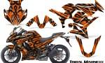 Kawasaki ZX 1000 10 13 CreatorX Graphics Kit Tribal Madness Orange 150x90 - Kawasaki ZX1000 Ninja 2010-2013 Graphics