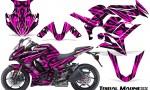 Kawasaki ZX 1000 10 13 CreatorX Graphics Kit Tribal Madness Pink 150x90 - Kawasaki ZX1000 Ninja 2010-2013 Graphics