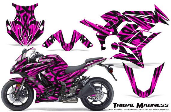 Kawasaki ZX 1000 10 13 CreatorX Graphics Kit Tribal Madness Pink 570x376 - Kawasaki ZX1000 Ninja 2010-2013 Graphics