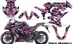 Kawasaki ZX 1000 10 13 CreatorX Graphics Kit Tribal Madness PinkLite 150x90 - Kawasaki ZX1000 Ninja 2010-2013 Graphics