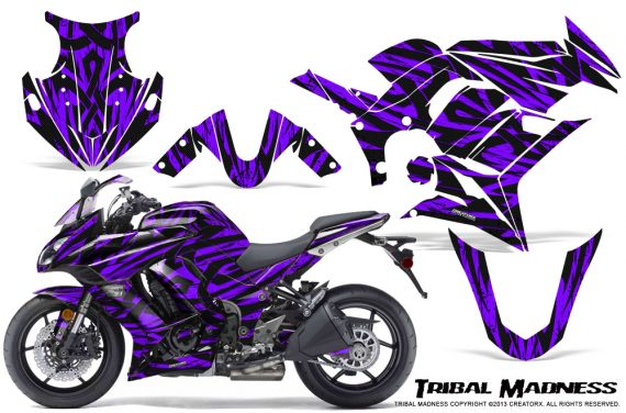 Kawasaki ZX 1000 10 13 CreatorX Graphics Kit Tribal Madness Purple 570x376 - Kawasaki ZX1000 Ninja 2010-2013 Graphics