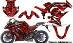 Kawasaki ZX 1000 10 13 CreatorX Graphics Kit Tribal Madness Red 150x90 - Kawasaki ZX1000 Ninja 2010-2013 Graphics