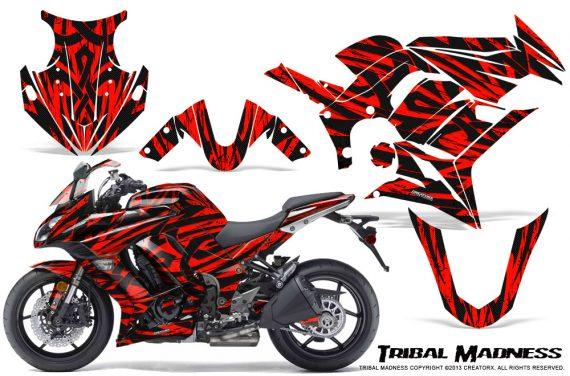 Kawasaki ZX 1000 10 13 CreatorX Graphics Kit Tribal Madness Red 570x376 - Kawasaki ZX1000 Ninja 2010-2013 Graphics