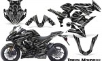 Kawasaki ZX 1000 10 13 CreatorX Graphics Kit Tribal Madness Silver 150x90 - Kawasaki ZX1000 Ninja 2010-2013 Graphics
