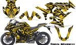 Kawasaki ZX 1000 10 13 CreatorX Graphics Kit Tribal Madness Yellow 150x90 - Kawasaki ZX1000 Ninja 2010-2013 Graphics