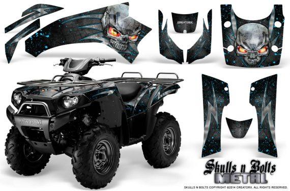 Kawasaki Brute Force 750 CreatorX Graphics Kit Skulls n Bolts Metal BlueIce Black 570x376 - Kawasaki Brute Force 750i-750 2004-2011 Graphics