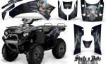 Kawasaki Brute Force 750 CreatorX Graphics Kit Skulls n Bolts Metal Blue Black 150x90 - Kawasaki Brute Force 750i-750 2004-2011 Graphics