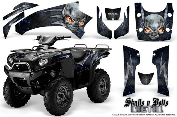 Kawasaki Brute Force 750 CreatorX Graphics Kit Skulls n Bolts Metal Blue Black 570x376 - Kawasaki Brute Force 750i-750 2004-2011 Graphics