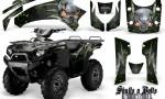 Kawasaki Brute Force 750 CreatorX Graphics Kit Skulls n Bolts Metal Green Black 150x90 - Kawasaki Brute Force 750i-750 2004-2011 Graphics
