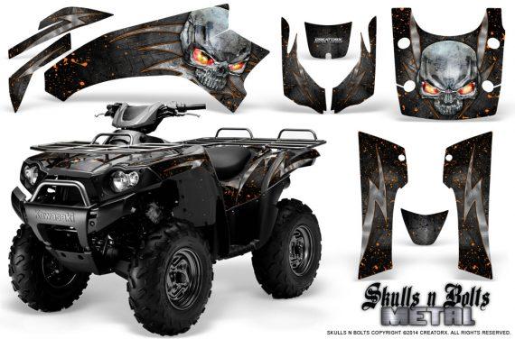 Kawasaki Brute Force 750 CreatorX Graphics Kit Skulls n Bolts Metal Orange Black 570x376 - Kawasaki Brute Force 750i-750 2004-2011 Graphics