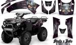 Kawasaki Brute Force 750 CreatorX Graphics Kit Skulls n Bolts Metal Pink Black 150x90 - Kawasaki Brute Force 750i-750 2004-2011 Graphics