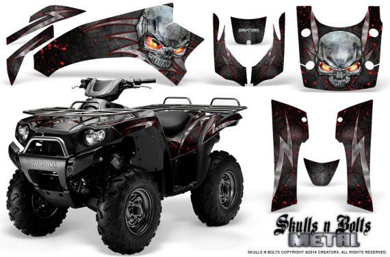 Kawasaki Brute Force 750 CreatorX Graphics Kit Skulls n Bolts Metal Red Black 570x376 - Kawasaki Brute Force 750i-750 2004-2011 Graphics