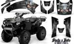 Kawasaki Brute Force 750 CreatorX Graphics Kit Skulls n Bolts Metal Silver Black 150x90 - Kawasaki Brute Force 750i-750 2004-2011 Graphics