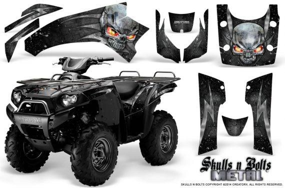 Kawasaki Brute Force 750 CreatorX Graphics Kit Skulls n Bolts Metal Silver Black 570x376 - Kawasaki Brute Force 750i-750 2004-2011 Graphics