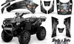 Kawasaki Brute Force 750 CreatorX Graphics Kit Skulls n Bolts Metal White Black 150x90 - Kawasaki Brute Force 750i-750 2004-2011 Graphics